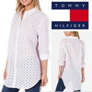 Tommy Hilfigure Button Down Eyelet Shirt
